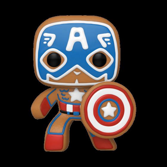 Funko Pop - Gingerbread Captain America (933) - Marvel Holiday