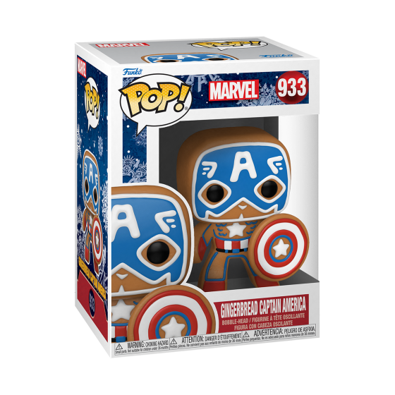 Funko Pop - Marvel Holiday - Gingerbread Captain America (933) - The Gamebusters
