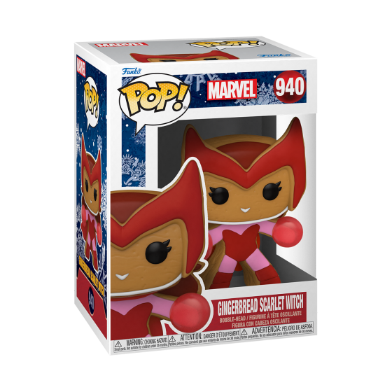 Funko Pop - Gingerbread Scarlet Witch (940) - Marvel Holiday - The Gamebusters