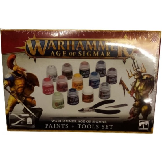 Warhammer Age of Sigmar - Paints & Tools Set - The Gamebusters