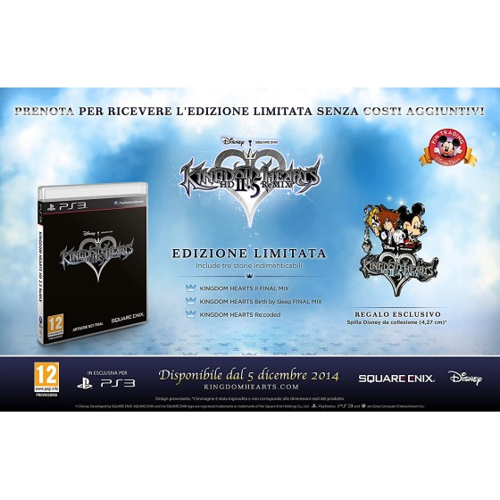 Kingdom Hearts HD 2.5 ReMIX - Limited Edition - PS3 usato
