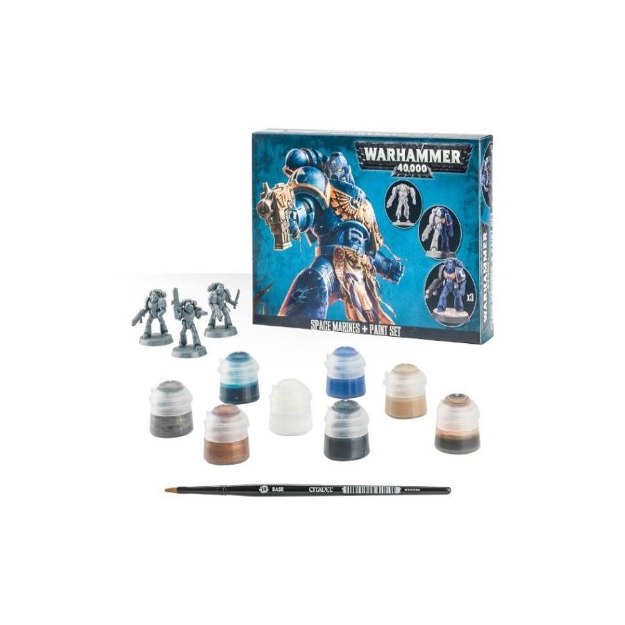 Warhammer 40.000 - Space Marines + Paint Set