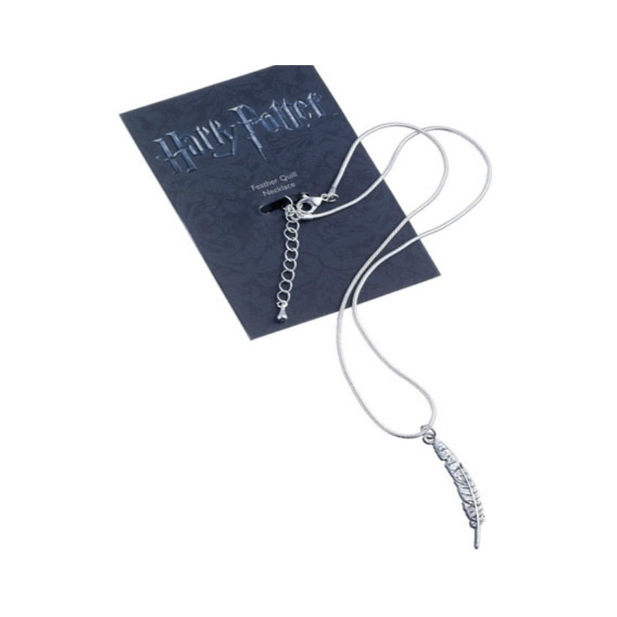 The Carat shop Charm - Collana con ciondolo - Penna Piuma - Harry Potter