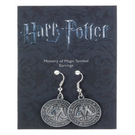 The Carat Shop Charm - Orecchini Stemma Ministero della Magia - Harry Potter