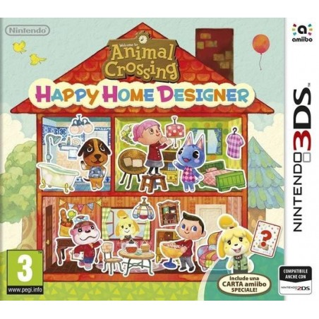 Animal Crossing Happy Home Designer + Carta Amiibo - 3DS