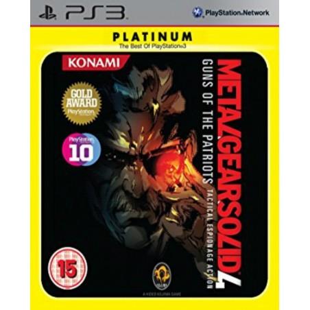 Metal Gear Solid 4 Guns of the Patriots - Platinum - PS3 usato