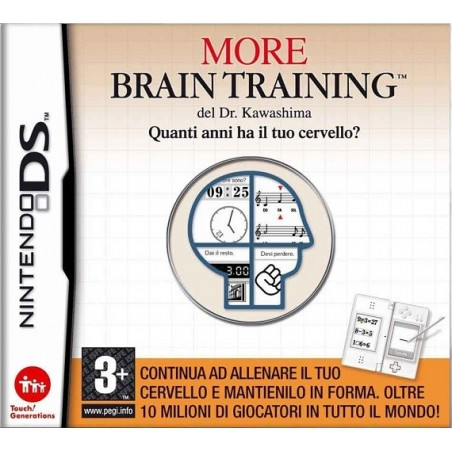 More Brain Training del Dr. Kawashima: Quanti anni ha il tuo cervello? per nintendo ds