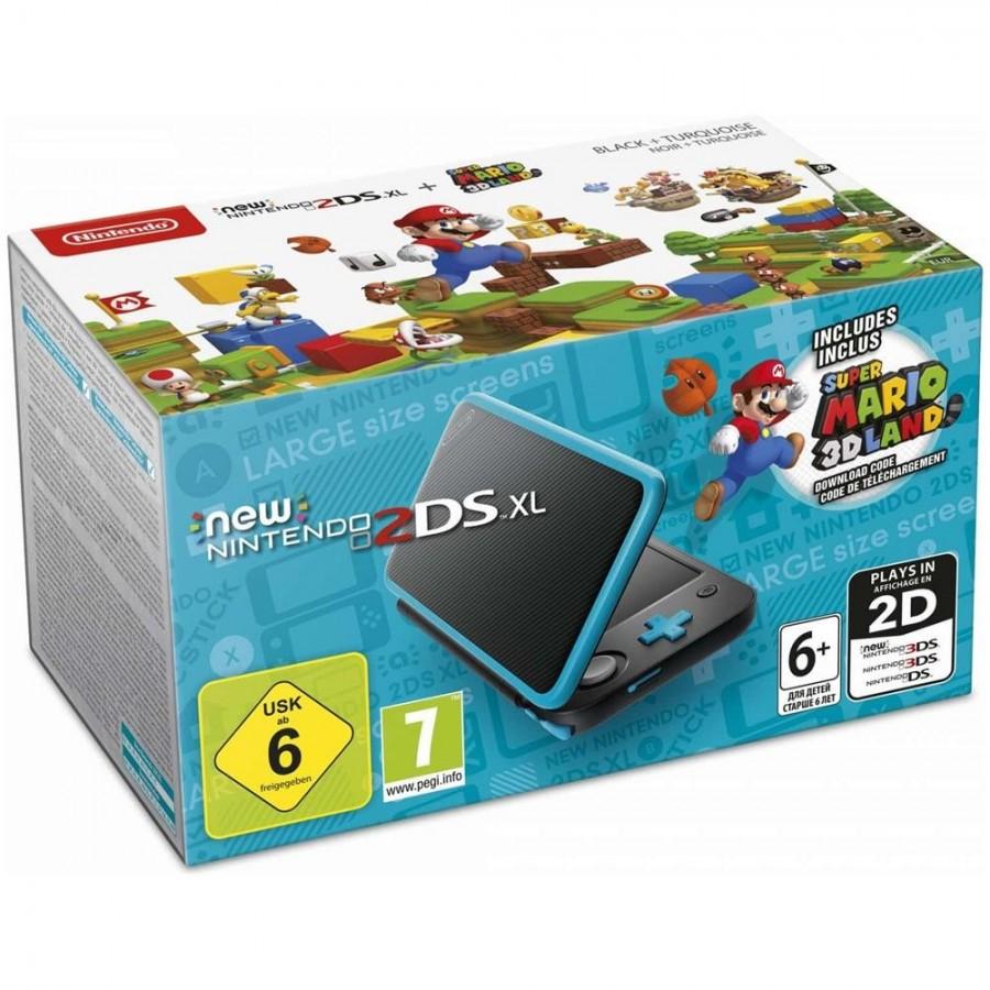 New Nintendo 2DS XL - Nero e Turchese + Super Mario 3D Land