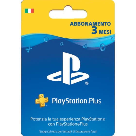 Playstation Plus 3 Mesi - Digitale