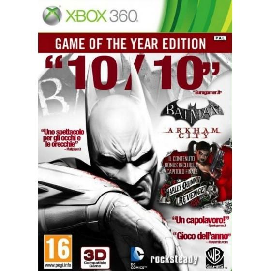 Batman Arkham City - GOTY - Xbox 360