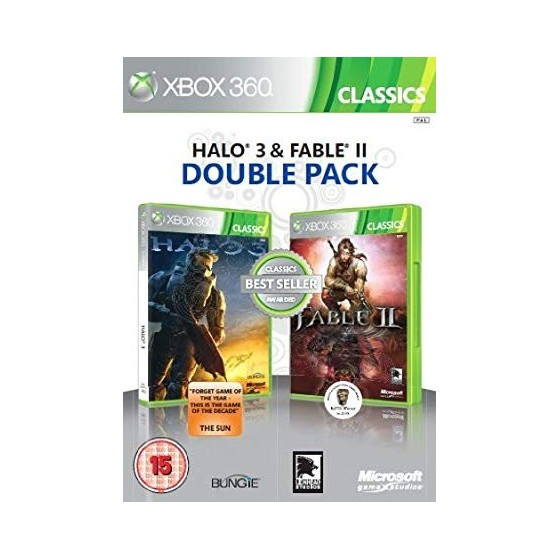 Halo 3 e Fable II - Double Pack - Xbox 360