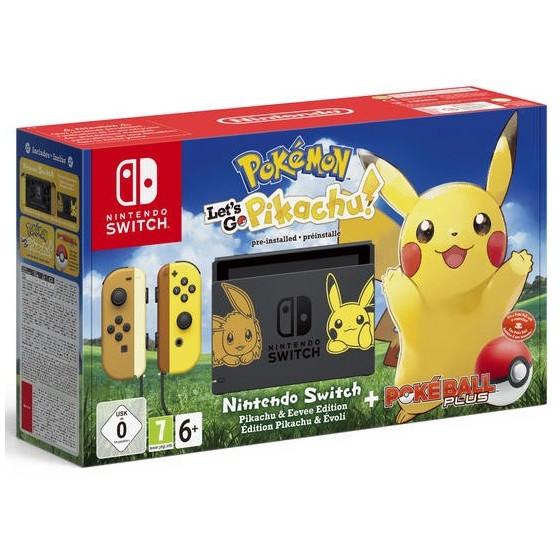 Console Nintendo Switch Limited Edition e Pokémon Let's Go: Pikachu e Poké Ball Plus