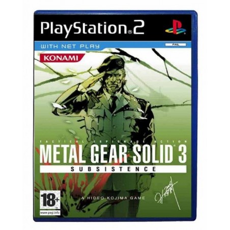 Metal Gear Solid 3 Subsistence - PS2 usato