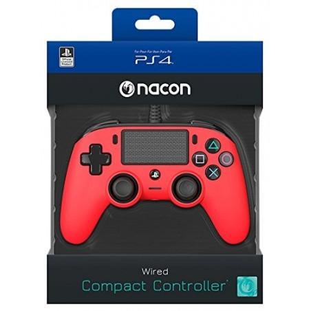 Compact Controller Nacon - Rosso - PS4