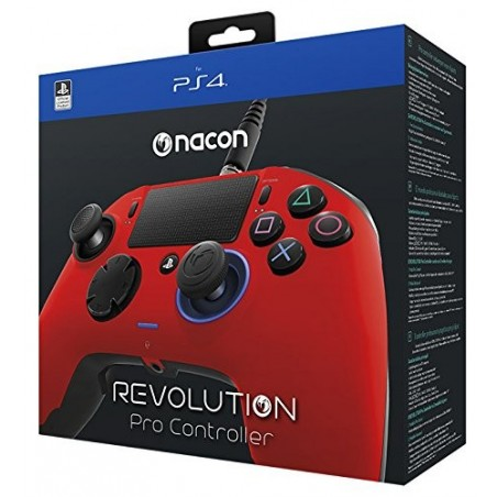 Nacon Revolution Pro Controller Wired - Rosso - PS4