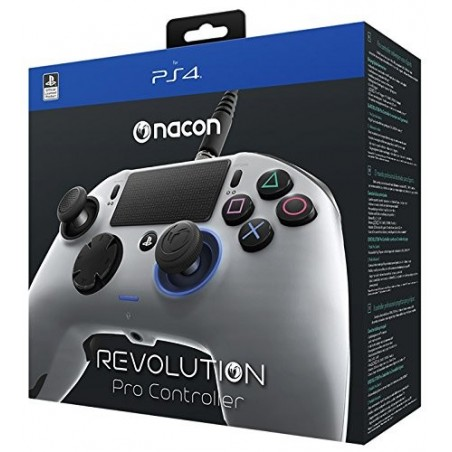 Nacon Revolution Pro Controller Wired - Argento - PS4