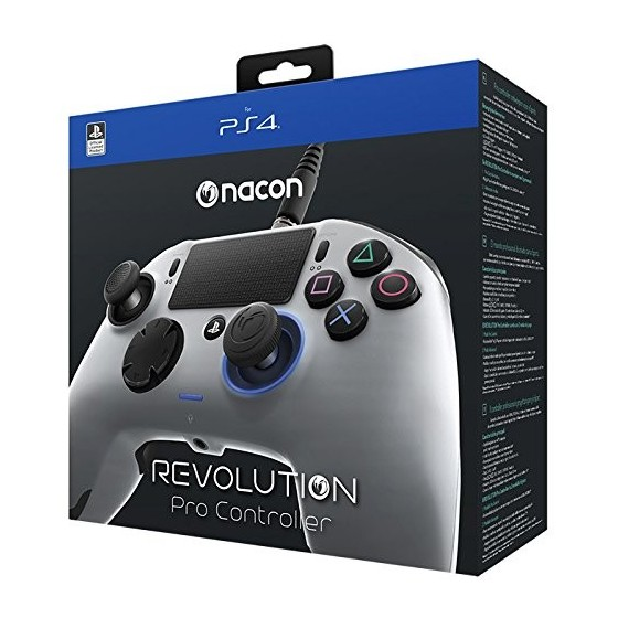 Nacon Revolution Pro Controller Wired - Grey- PS4